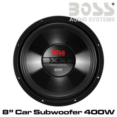 "Boss CX8 - 8"" Car Subwoofer Single Voice Coil (4 Ohm) 400 Watts Bass Woofer"
