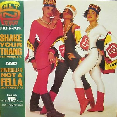 "SALT N PEPA Shake Your Thang 1988 UK  12"" VINYL single EXCELLENT CONDITION"