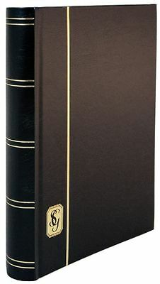 Stanley Gibbons 64-White Page (32 double-sided pages) Stockbook BLACK