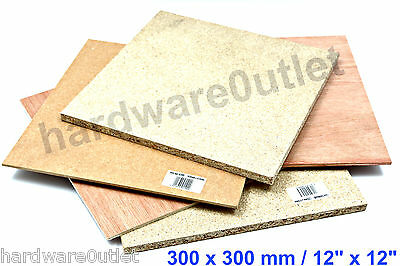 "Plywood MDF Hardboard Chipboard Good Range Available @ 300 x 300 mm / 12"" x 12"""