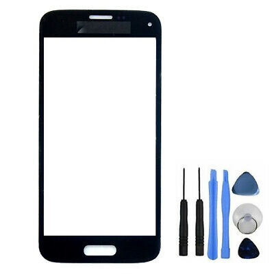 Black Front Outer Screen Glass Lens For Samsung Galaxy S5 Mini G800 + Free Tools