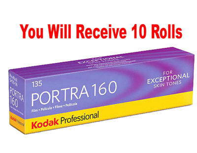 10 Rolls Kodak Portra 160 35mm Film 135-36 ISO 160 Color Negative FRESH 07/2020