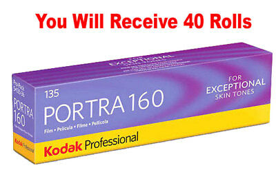 40 Rolls Kodak Portra 160 35mm Film 135-36 ISO 160 Color Negative FRESH 07/2020