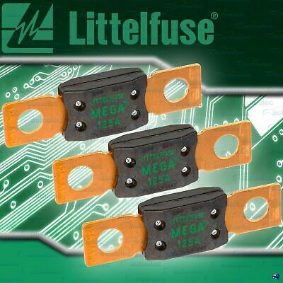 GENUINE LITTELFUSE MEGA FUSE  3x 125A AMP FUSES DUAL BATTERY BATTERIES SYSTEM