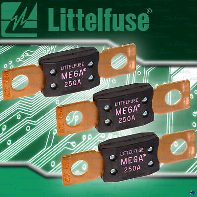 GENUINE LITTELFUSE MEGA FUSE  3x 250A AMP FUSES DUAL BATTERY BATTERIES SYSTEM