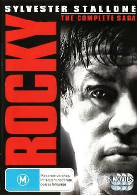 Rocky 1 2 3 4 5 6 Heavyweight Collection Box Set DVD R4 New!