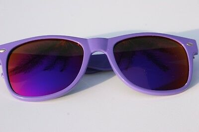 New PURPLE frame Sunglasses with purple mirror lens 80's retro vintage