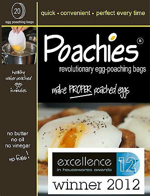 5 X 20 Poachies Egg Poaching Bags Perfect Poached Eggs Every Time