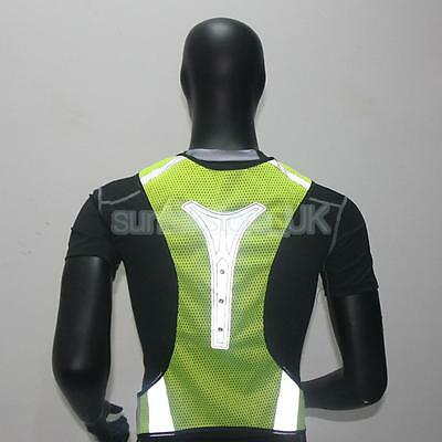 RUNNING HIGH VISIBILITY VEST REFLECTIVE SAFETY WAISTCOAT VEST with LED LIGHT