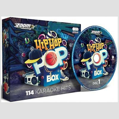 Karaoke CDG Discs Zoom Hip Hop & Rap Pop Party Box Set, 114 Hits on 6 CD+G Discs