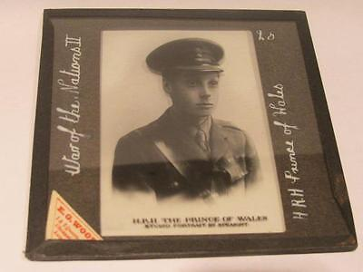 Edward VIII HRH Prince of Wales War of Nations II Antique Speaight Glass Slide