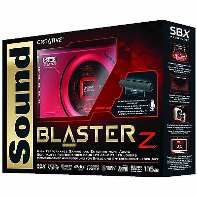 Creative Sound Blaster Z Pcle Sound Card With Sound Beamforming Microphone New