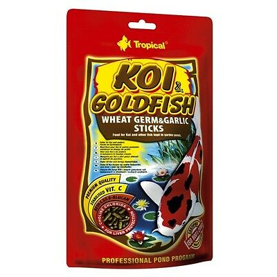 Tropical Koi & Goldfish Wheat Germ & Garlic Sticks - Futtersticks mit Knoblauch • EUR 2,78