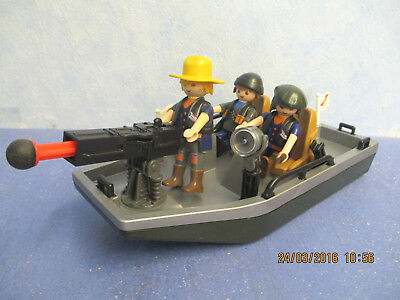 Fluss Piraen Boot 3 Figuren Kanone aus Set 4845 Playmobil 5037