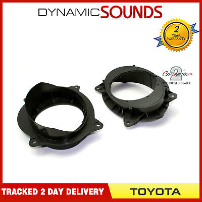CT25TY04 Car Speaker Panel Adaptors Pods Rings 16.5cm 165mm For Toyota Hilux