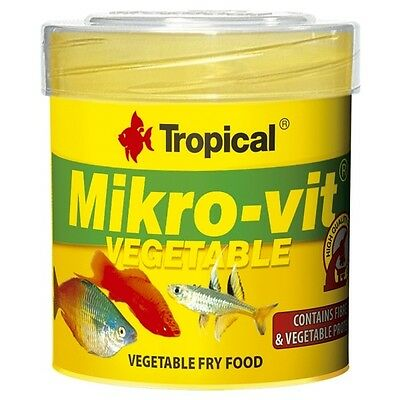 Tropical MikroVit Vegetable - 50 ml, Staubfutter Jungfische