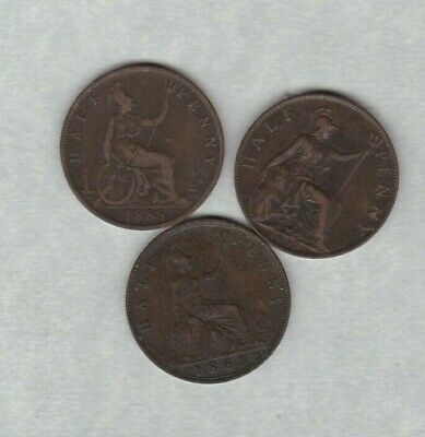 16 Bronze 20Th Century Halfpennies 1924 To 1982 In Fine To Mint Condition