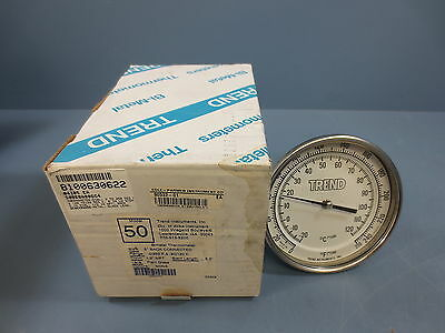 "1 Nib Trend Instruments Model 50 Bimetal Thermometer 5"" Back Connected"