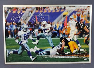 Cowboys Emmitt Smith Signed Authentic Framed Photo 32X22 PSA/DNA #Q11450