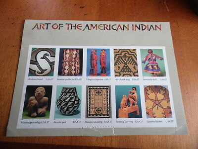 USA ~ Art Of The American Indian Sheet Of 10 x 37c ( Unused )~ Sc#3873 CV$44