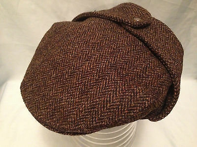 Mens Traditional Harris Tweed Bugatti Flat Cap Ear Flaps Direct From Scotland