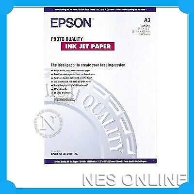 Epson S041068 A3 Photo Quality InkJet Paper-Artisan1430/R1800/R1900-100x Sheets