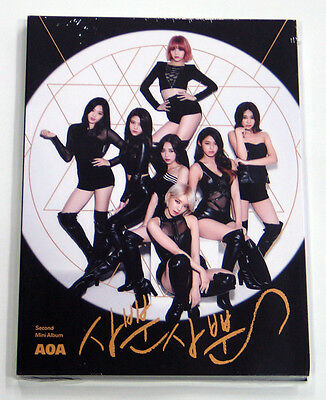 AOA - Like a Cat (2nd Mini) CD+Photo Booklet+Photocard+Extra Gift Photocards Set