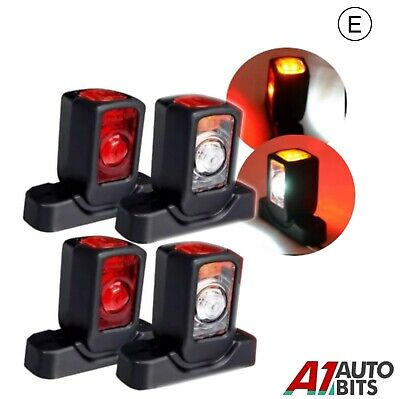 4 X 12V Side Rear Led Marker Lights Lamps Chassis Trailer Truck Trailer Chassis
