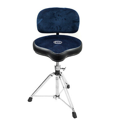 Roc n Soc Moto Seat Drum Stool Throne With Accessory Backrest BLUE