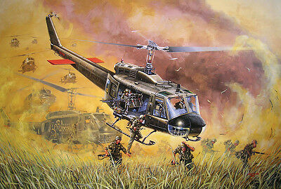 "12X18 Vietnam - UH-1H Huey - ""Riders on the Storm"" 24 Gauge Metal Sign"