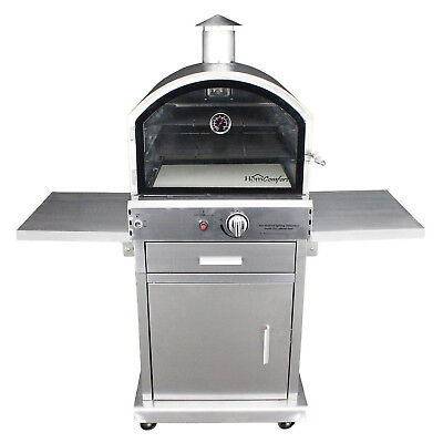 HomComfort HCP16SS 16,000 BTU Propane Stainless Steel Outdoor Cooking Pizza Oven
