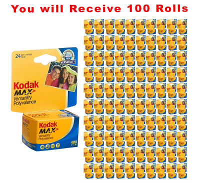 100 Rolls Kodak Ultramax 400 35mm Film GC 135-24 Exp GOLD Color Print 2/2021