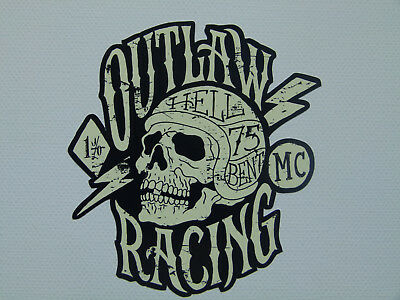 2x Outlaw 1% Oldschool vintage Aufkleber Bobber Biker Retro Sticker USA Chopper