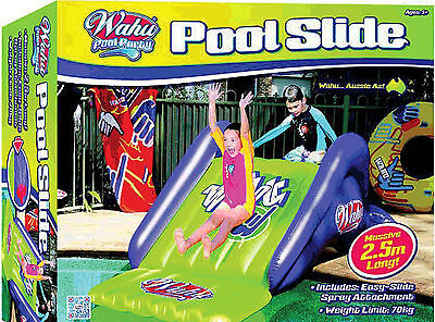 *NEW* WAHU BMA655 Pool Party Fun Pool Water Slide 2.5m Long - spray attachment
