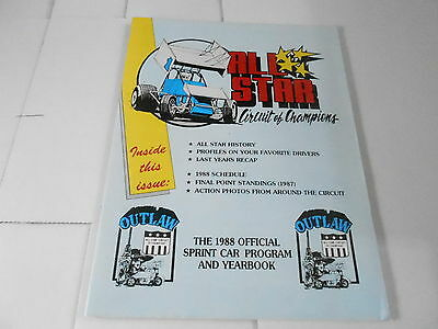 #misc-2560 Car Racing Yearbook - 1988 All Star Circuit Of Champions