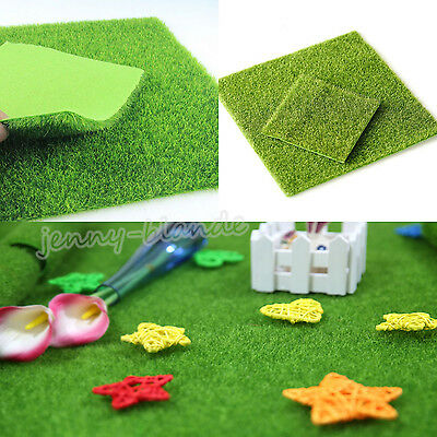 New Miniature Synthetic Grass Dollhouse Yard Outdoor Living Fake Lawn Home Decor