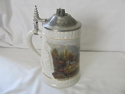 Beginning of a perfect day limited edition Woodland series stein Thomas Kinkade