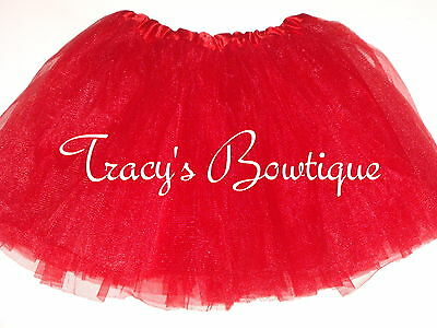 Girls Red Tulle Tutu Dance Halloween Dress Up Costume Party Favors Ballet