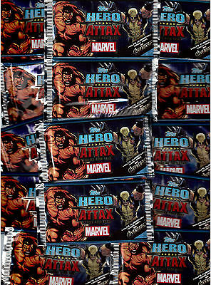 Hero Attax 2 Topps / Trading Cards / 10 Tüten / Marvel / Neu OVP