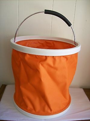 "Orange ""Presto Bucket"" Lightweight Collapsible Bucket by Garden Works"