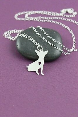 Chihuahua sitting pendant necklace dog collectible No.70