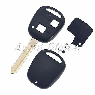Remote Key Case Shell Repair for Toyota Yaris Core Hatchback 4-Door 2 Buttons