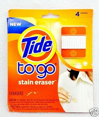 4 ERASERS Tide TO GO Instant Stain Eraser On the Go Travel Purse Size (1 Pack)