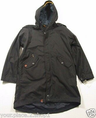 Barbour Men's Navy Blue Kellen Waxed Cotton Hooded Parka Jacket $599