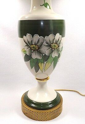 Stunning Hand Painted Vintage Table Lamp Working! Moriage Styling Exc.