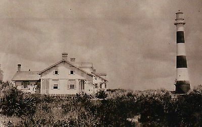 Cape Canaveral Lighthouse Florida c1900 Today US Air Force Station FL - Postcard