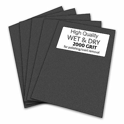 10 sheets of Wet & Dry Sandpaper 2000 Grit for Guitar Sanding / Preparation