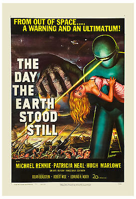 1950's Sci-Fi  *  The Day the Earth Stood Still *  USA Movie  Poster 1951