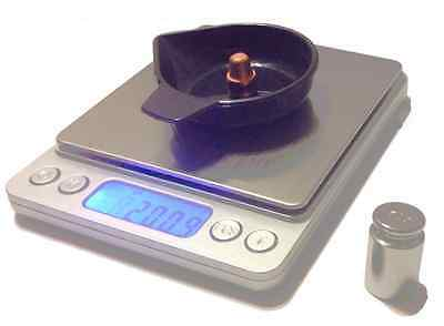 Reloading Digital Scale, Large Base, 750Gn W/calibration Weight And 5 Pans