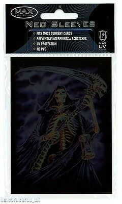 Max Protection Neo Sleeves For Pokemon/MTG Cards :: Grim Reaper :: Pkt 50